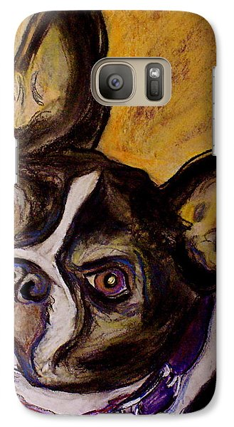 Galaxy Case featuring the painting Boston Terrier by D Renee Wilson