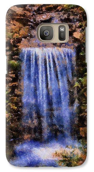 Galaxy Case featuring the digital art Botanical Garden Falls by Lynne Jenkins