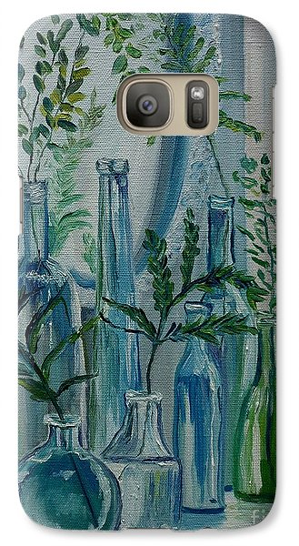 Galaxy Case featuring the painting Bottle Brigade by Julie Brugh Riffey