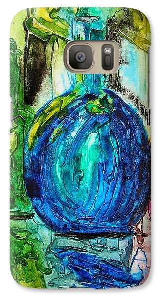 Galaxy Case featuring the painting Bottles by Mary Kay Holladay