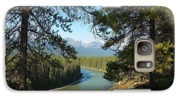 Galaxy Case featuring the photograph Bow River by Bob and Nancy Kendrick