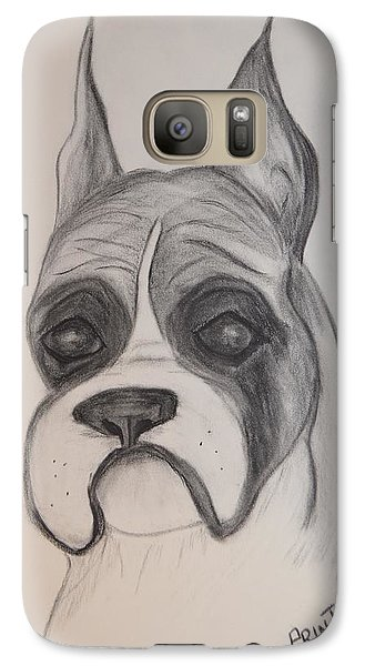 Galaxy Case featuring the drawing Boxer by Maria Urso