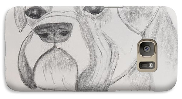 Galaxy Case featuring the drawing Boxer No Crop by Maria Urso