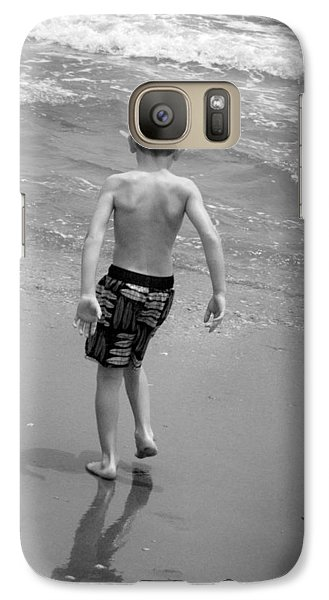 Galaxy Case featuring the photograph Boy At The Ocean by Kelly Hazel