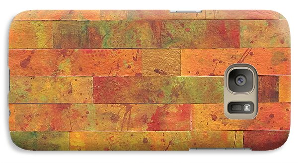 Galaxy Case featuring the painting Brick Orange by Kathy Sheeran