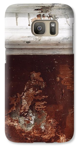 Galaxy Case featuring the photograph Brick Red Wall Detail by Agnieszka Kubica