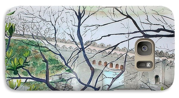 Galaxy Case featuring the painting Bridge In China by Mary Kay Holladay