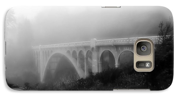 Galaxy Case featuring the photograph Bridge In Fog by Katie Wing Vigil