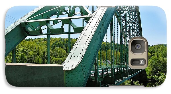 Galaxy Case featuring the photograph Bridge Spanning Connecticut River by Sherman Perry