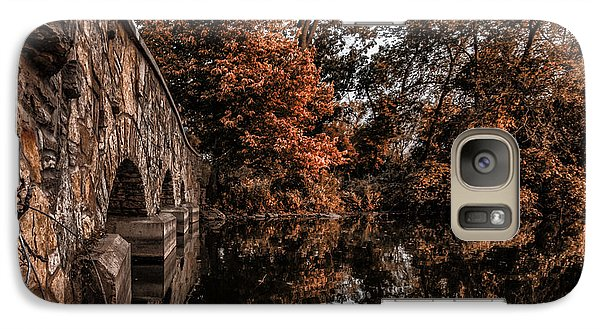 Galaxy Case featuring the photograph Bridge To Autumn by Tom Gort