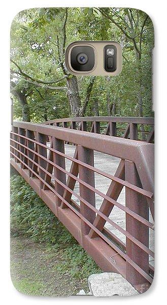 Galaxy Case featuring the photograph Bridge To Beyond by Vonda Lawson-Rosa