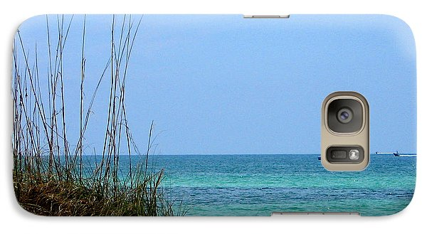 Galaxy Case featuring the photograph Bright Blue by Ginny Schmidt