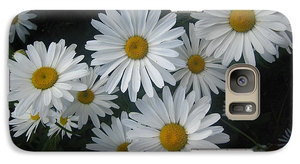 Galaxy Case featuring the photograph Bright Eyed Daisys by Cheryl Perin