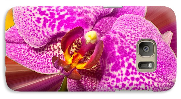 Galaxy Case featuring the photograph Bright Orchid by Michael Waters