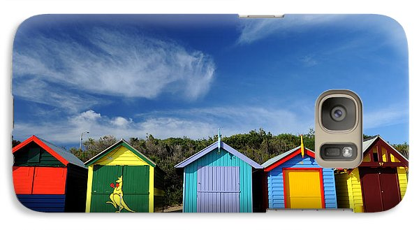 Galaxy Case featuring the photograph Brighton Beach by Yew Kwang