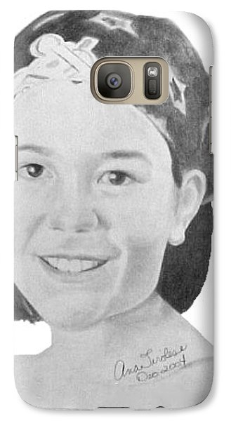Galaxy Case featuring the drawing Brittany Bettencourt by Ana Tirolese