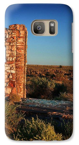 Galaxy Case featuring the photograph Broken Glass At Two Guns by Lon Casler Bixby