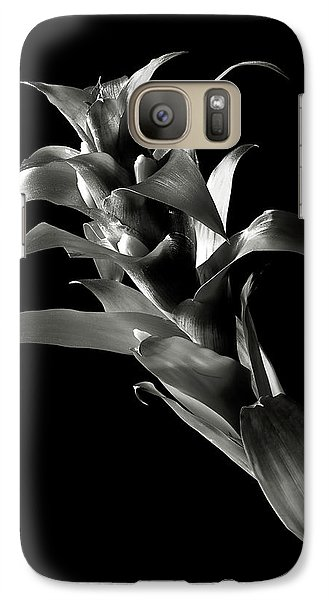 Galaxy Case featuring the photograph Bromeliad In Black And White by Endre Balogh