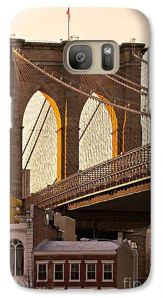 Galaxy Case featuring the photograph Brooklyn Bridge - New York by Luciano Mortula