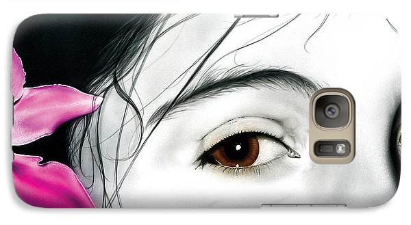 Galaxy Case featuring the painting Brown Eyed Girl by Dan Menta