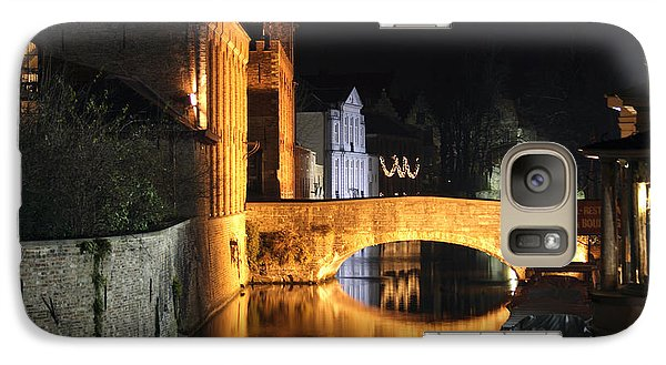 Galaxy Case featuring the photograph Bruge Night by Milena Boeva