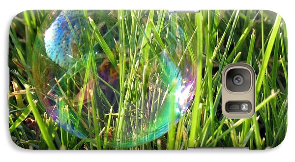 Galaxy Case featuring the photograph Bubble In The Grass by Darleen Stry