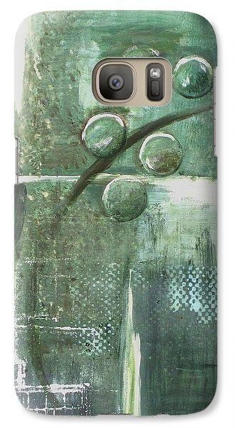 Galaxy Case featuring the painting Bubbles by Kathy Sheeran