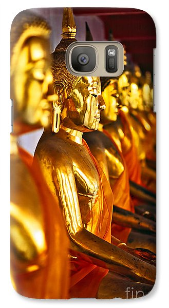 Galaxy Case featuring the photograph Buddhas by Luciano Mortula