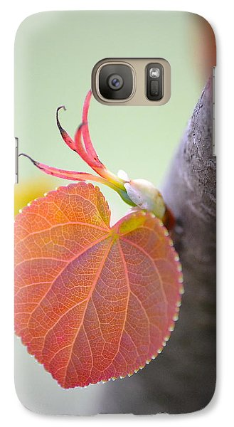 Galaxy Case featuring the photograph Budding Heart by JD Grimes