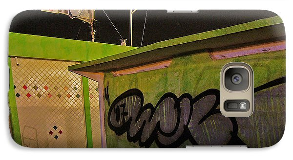 Galaxy Case featuring the photograph Building 31 Rimini Beach Graffiti by Andy Prendy