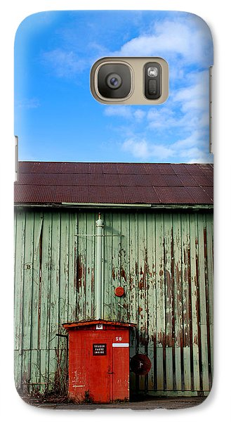 Galaxy Case featuring the photograph Building Series - Red Shack by Kathleen Grace