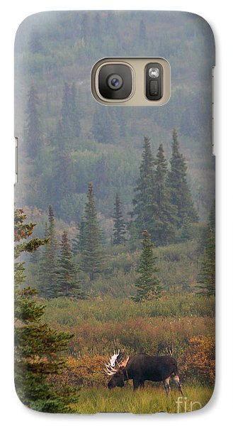 Galaxy Case featuring the photograph Bull Moose In Alaska by Karen Lee Ensley