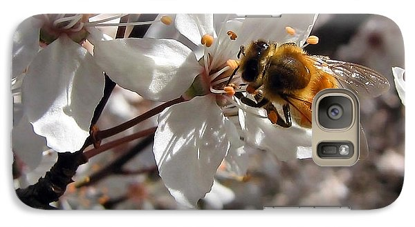 Galaxy Case featuring the photograph Bumble Bee On A Cherry Blossom by Tyra  OBryant