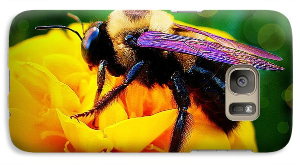 Galaxy Case featuring the photograph Bumblebee With Bokeh by Judi Bagwell