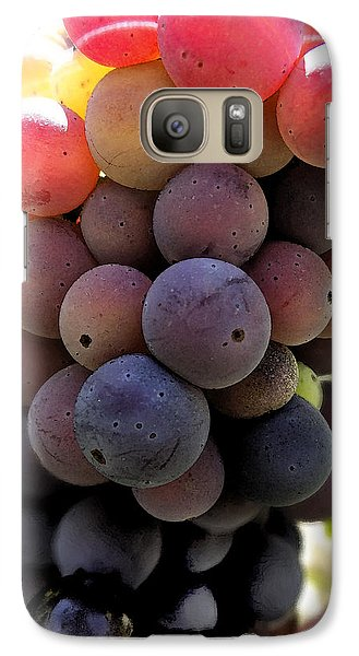 Galaxy Case featuring the digital art Bunch Of Ripening Grapes by Anne Mott