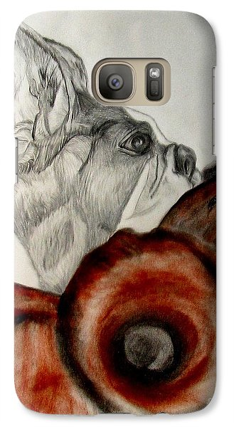Galaxy Case featuring the drawing Bundled In Blankets by Maria Urso