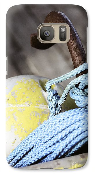 Galaxy Case featuring the photograph Buoy Rope And Anchor by Agnieszka Kubica
