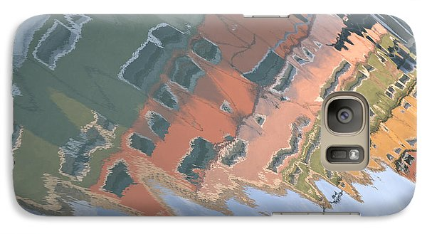 Galaxy Case featuring the photograph Burano House Reflections by Rebecca Margraf