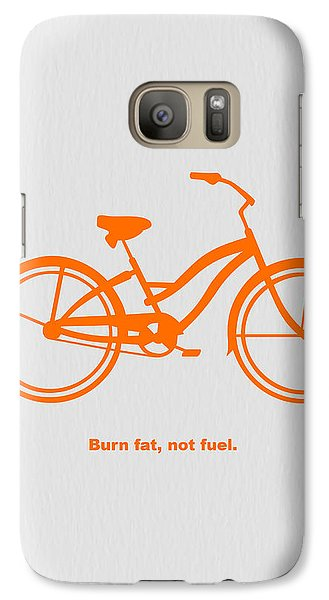 Bicycle Galaxy S7 Case - Burn Fat Not Fuel by Naxart Studio
