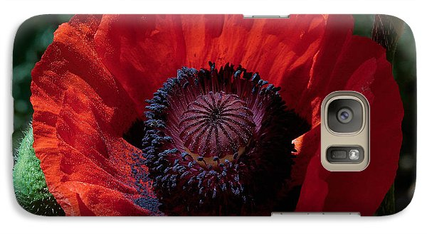 Galaxy Case featuring the photograph Burning Poppy by Mitch Shindelbower