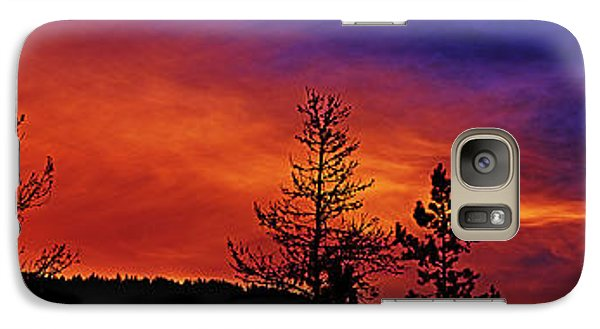 Galaxy Case featuring the photograph Burning Sunrise by Janie Johnson