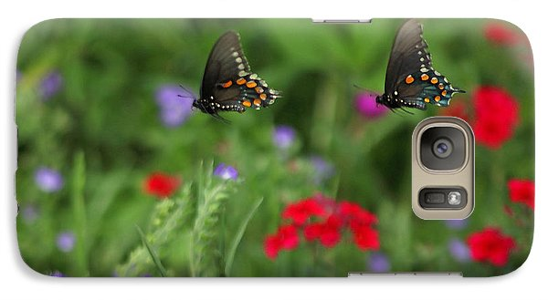 Galaxy Case featuring the photograph Butterfly Chase by Susan Rovira