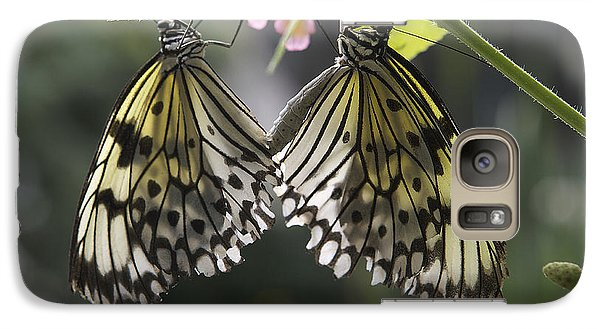 Galaxy Case featuring the photograph Butterfly Duo by Eunice Gibb
