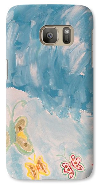 Galaxy Case featuring the painting Butterfly Flight by Sonali Gangane