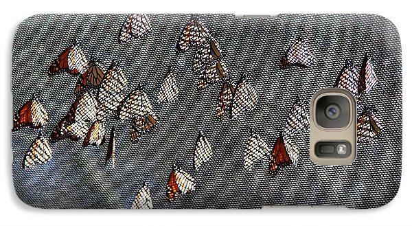 Galaxy Case featuring the photograph Butterfly Gathering by Tam Ryan