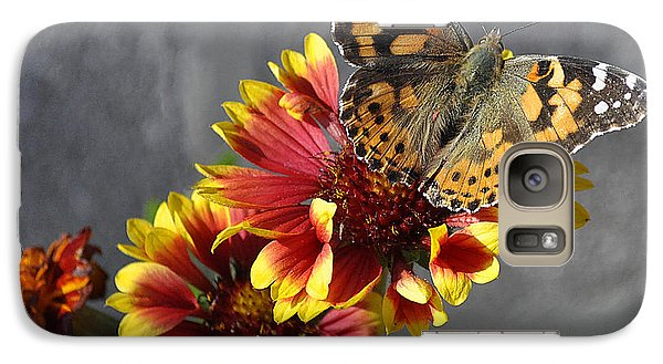 Galaxy Case featuring the photograph Butterfly On A Gaillardia by Verana Stark
