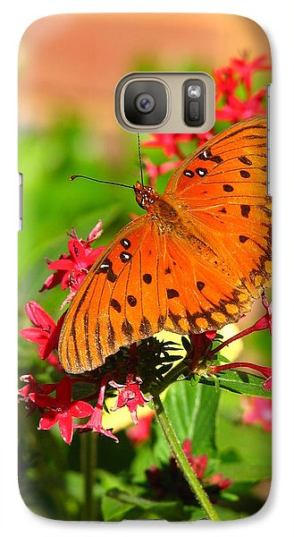 Galaxy Case featuring the photograph Butterfly On Pentas by Carla Parris