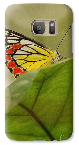 Galaxy Case featuring the photograph Butterfly Resting by Fotosas Photography