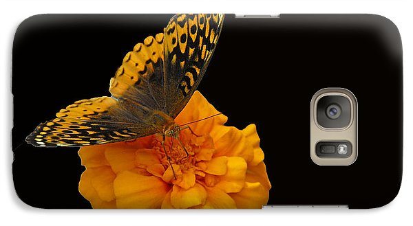 Galaxy Case featuring the photograph Butterfly Visitor by Cindy Manero