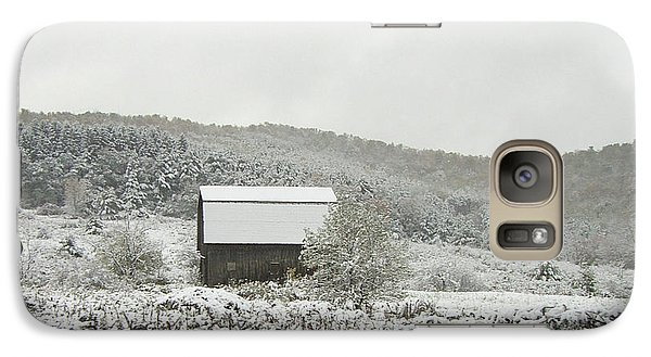 Galaxy Case featuring the photograph Cabin In The Snow by Michael Waters